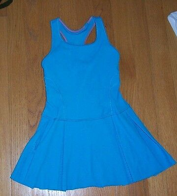 Ivivva by Lululemon Turquoise Tennis Dress with Built In Shorts Girls Size 6, EC