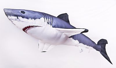 Great White Shark Soft Toy Stuffed Fish, pillow pub Ocean Sea fishing Gaby 53 cm