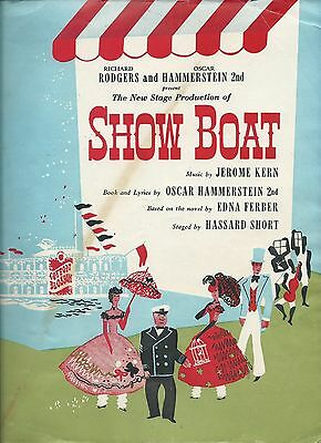 Rodgers & Hammerstein Showboat New Stage Production Program c1940's.