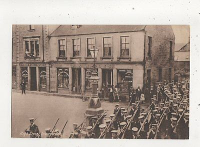 High Street Invergordon Ross-shire Scotland Sailors Marching Vintage Postcard