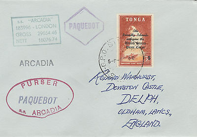 Tonga 4429 - Used in SYDNEY, NSW 1968  PAQUEBOT cover to UK