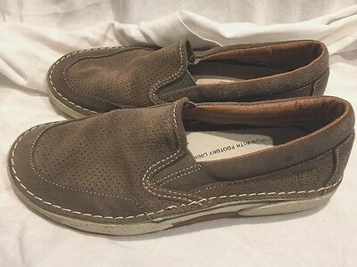 MEN's Sperry Brown Leather Slip/Slide On Boat Shoes Loafers Size 7.5M