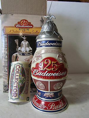 Budweiser 125th Anniversary A Tradition of Brewing Excellence Lidded Stein CS496
