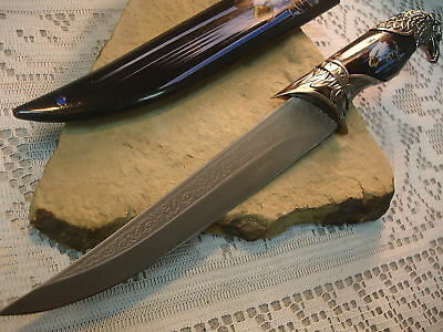 Eagle Head Dagger Fixed Blade Knife Sharp New! 210484-EG