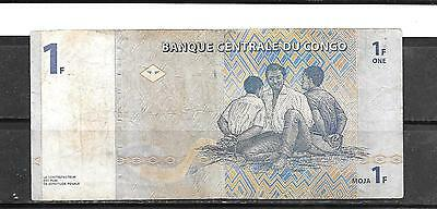 CONGO #85a 1997 VG CIRCULATED FRANC CURRENCY OLDER BANKNOTE BILL PAPER MONEY