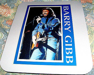 """BEE GEES  BEEGEES BARRY GIBB COMPUTER MOUSE MAT COLOURED SIZE 7.5"""" x 9.5"""""""