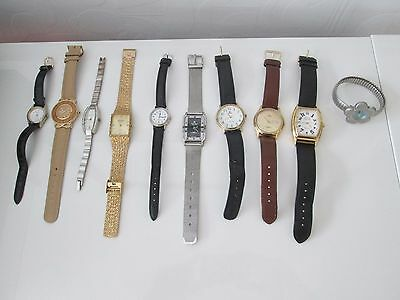 job lot of various watches