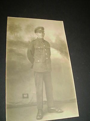 social history ww1 military soldier in uniform studio rp postcard postcard