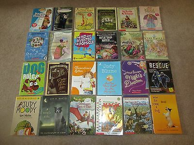 Lot of 50 Children's Chapter Books Grades 2-4 Classroom Library Home school AR