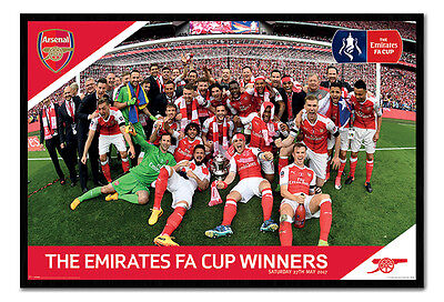 Framed Arsenal FC FA Cup Winners 2017 Poster New