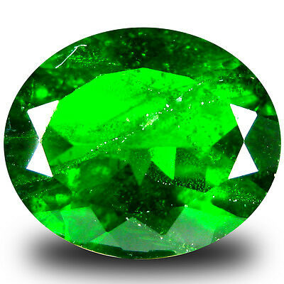 4.46 ct  Premium Oval Shape (12 x 10 mm) Green Chrome Diopside Natural Gemstone