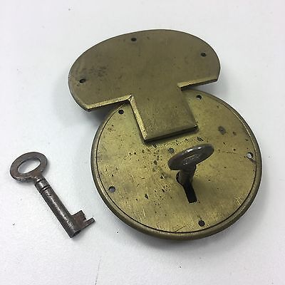 Vintage Brass Trunk / Box Padlock Hasp Lock - Working With 2 Keys