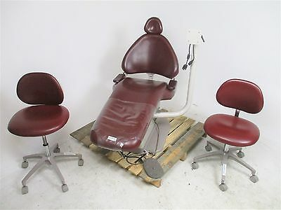 Adec 1040 Cascade Dental Chair w/ Radial Monitor Arm & 2 Doctor Stools