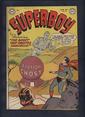 Superboy #20 golden age comic full page ted williams ad