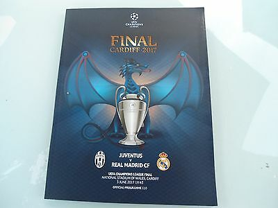 NEW CHAMPIONS LEAGUE FINAL JUVENTUS Vs REAL MADRID OFFICAL PROGRAMME 2017