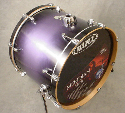 MAPEX MERIDIAN MAPLE 22x18 MIDNIGHT STEEL LACQUER BASS KICK DRUM
