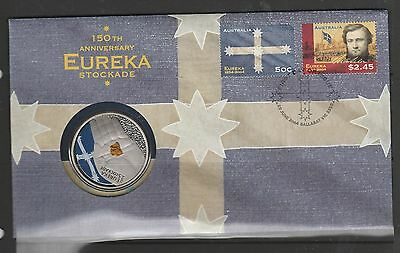 Australia Coin FDC/PNC cover 2004 Eureka stockade with $5 coin