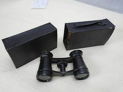 Vintage Old Binoculars Made in Germany in Original Cardboard Carry Box DRGM