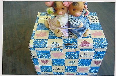 1996 This Little Piggy Squeal Keep In Touch Figurine With Box