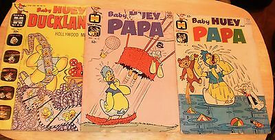 Lot of 3 Baby Huey Comic Books, 1960s