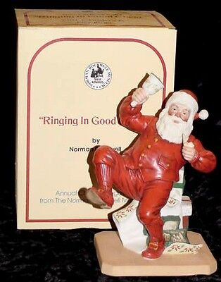 """1981  Norman Rockwell """"Ringing In Good Cheer"""" Full Size Figurine--Not a Mini"""