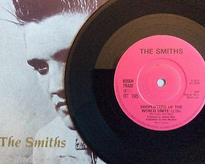 """THE SMITHS -Shoplifters- Rare UK 7"""" with SOLID Centre +Pic Sleeve (Vinyl Record)"""