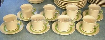 Franciscan FLORAL (8) Cup & Saucer Sets hand-painted