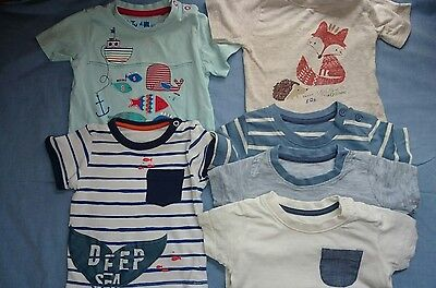 Bundle boys T shirts 3-6m summer tops x 6