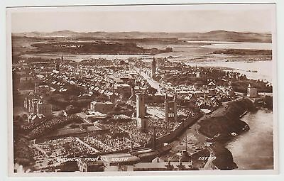 St.Andrews from the South in 1929 Aerial View. Old Real Photo PPC, VG Unused