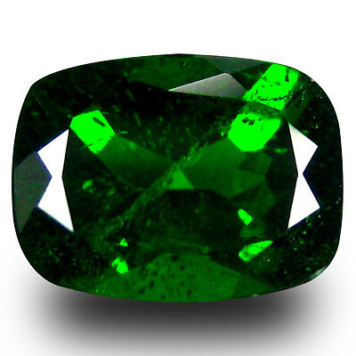 1.64 ct AAA+ Incomparable Cushion Shape (8 x 6 mm) Green Chrome Diopside