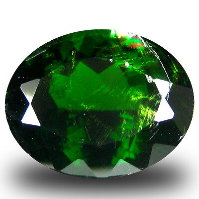 3.27 ct  Amazing Oval Shape (10 x 8 mm) Green Chrome Diopside Natural Gemstone