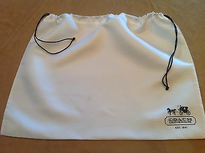 COACH Large Storage Pouch, Dust Cover Bag, Purse Holder, Drawstring Bag, Ivory