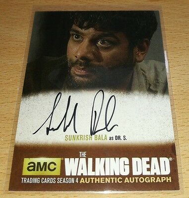 The Walking Dead Season 4: Sunkrish Bala as 'Dr. S' Standard Autograph Card SB1