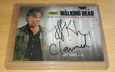 The Walking Dead Season 4: Jeff Kober as 'Joe' Black Variant Autograph Card JK2