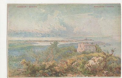 Greece, Achilleion, Corfou Art Postcard, B225