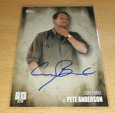 The Walking Dead Season 5: Corey Brill as 'Pete Anderson' Autograph Card