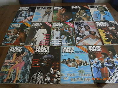 Job Lot 14X Black Music Magazines All In Vgc.soul,reggae,northern Soul,motown