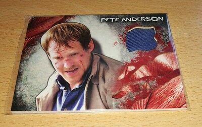 The Walking Dead Survival 'Pete' Costume/Wardrobe Relic Card. Slight Damage