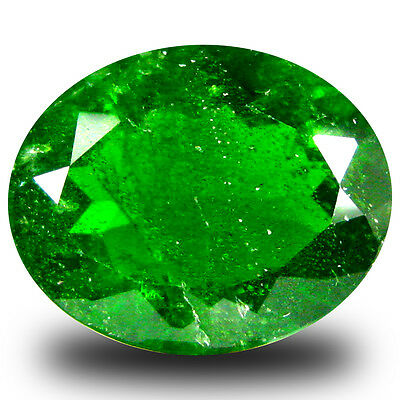 3.13 ct  Best Oval Shape (10 x 8 mm) Green Chrome Diopside Natural Gemstone