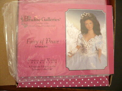 Paradise Galleries Porcelain  Doll, Fairy Of Peace By Artist Patricia Rose Mib