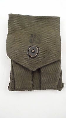 NOS US Military Surplus USGI WW2 WWII Style .45 Caliber Double Clip Ammo Pouch