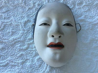 Antique japan japenese mask signed mid 20 century from Tokyo