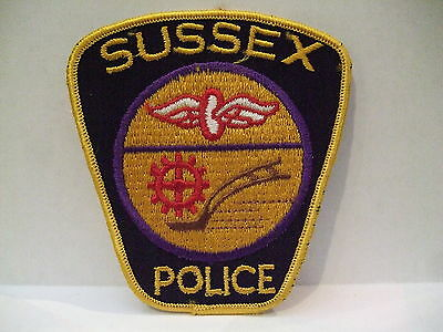 police patch  SUSSEX POLICE NEW BRUNSWICK CANADA OLDER STYLE