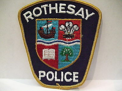 police patch  ROTHESAY POLICE NEW BRUNSWICK CANADA  NEWER STYLE