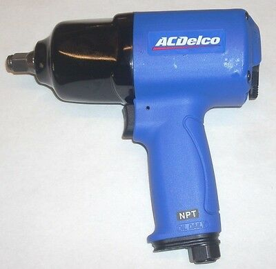 """AC Delco ANI404 Air Impact Wrench Lightweight Composite Body 1/2"""" Dr 650 ft-lb"""