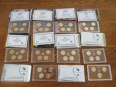2007 - 2016 Presidential Proof Sets - Lot of 10 Complete Sets with Boxes/COAs