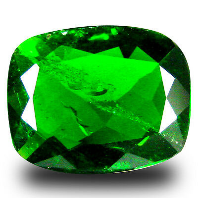 2.21 ct  Remarkable Cushion Shape (10 x 8 mm) Green Chrome Diopside Gemstone