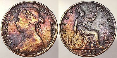 1/2 Penny 1889 Victoria Inghilterra Great Britain #7139A