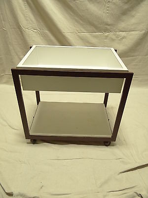 mid century outdoor patio pool side server sideboard bar t cart vintage folding