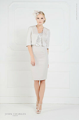 £687 BNWT John Charles Mother of Bride Groom 25692 Lace Dress & Jacket Size 14